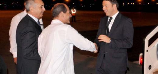 Renzi llega a Cuba