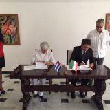 Firma acuerdo Italia Cuba