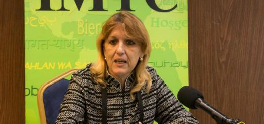 Irma Margarita Martínez, Vicepresidenta Primera del Banco Central de Cuba (BCC), ofrece declaraciones a la prensa, en la clausura de la Primera Conferencia sobre Transferencias Monetarias Internacionales en Cuba, en el hotel Meliá Cohíba de La Habana, el 29 de junio de 2016.      ACN FOTO/ Marcelino VÁZQUEZ HERNÁNDEZ/ rrcc